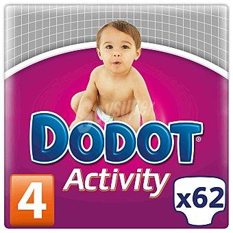 Dodot Activity Pañales Activity talla 4 (de 9 a 15 kg) Envase 64 uds