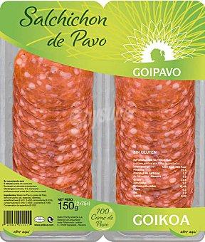 Goikoa Salchichón de pavo Pack 2x75 g