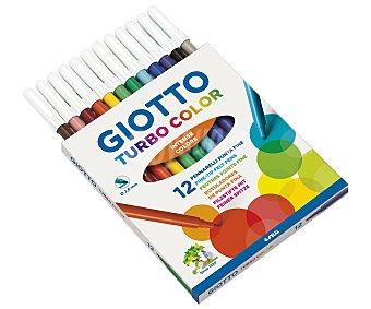 GIOTTO Caja de 12 rotuladores de diferentes colores, con punta fina y grosor de trazado de 2.8 milímetros 1 unidad
