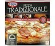 Pizza de tomate, panceta y queso, horneada sobre piedra  Tradizionale Dr. Oetker