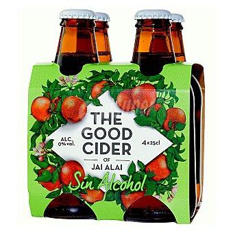 Jai-Alai Sidra de manzana sin alcohol The Good Cider Pack 4x25 cl