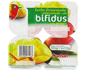 Auchan Yogur bifidus con mango Pack de 4 uds de 125 gr