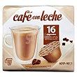 Cafe capsula cafe con leche (compatible cafetera dolce gusto*(marca de grupo societe des produits nestle,sa. no relacionada con cocatech,sl)) Paquete 16 u Cocatech