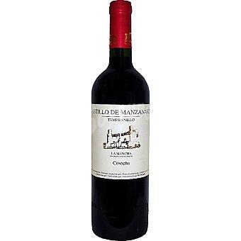 CASTILLO DE MANZANARES Vino tinto joven tempranillo de Castilla-La Mancha elaborado para grupo El Corte Inglés Botella 75 cl