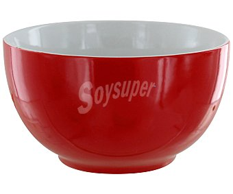 GSMD Bol o tazón de desayuno fabricado en cerámica, 500 Mililitros, color rojo liso, modelo Ikas 1 Unidad