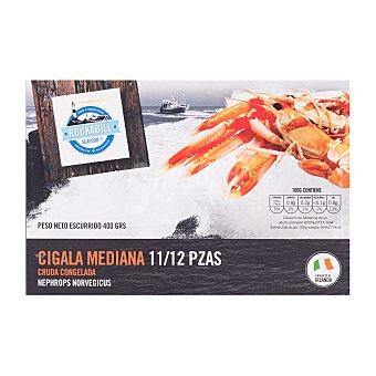 Rockabill Cigala congelada cruda mediana (11/12 piezas) Caja 400 g peso neto escurrido