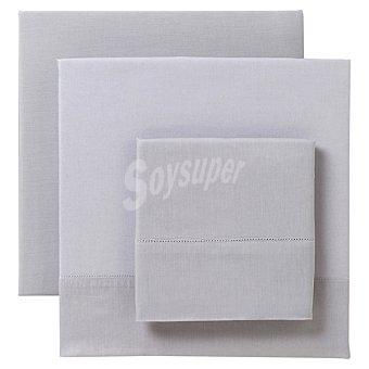 CASACTUAL Vainica Juego de sábanas liso en color gris