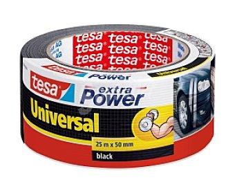 Tesa Cinta americana extra power, de color negra 25 metros x 48 milimetros