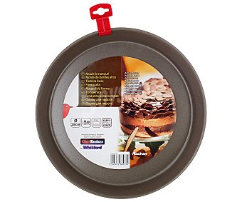 Auchan Molde redondo de metal antiadherente, 28 centímetros de diámetro 1 Unidad