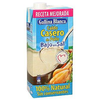 Gallina Blanca Caldo casero de pollo bajo en sal 100% natural Brik de 1 l