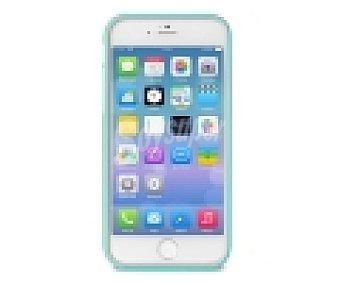 PURO Carcasa trasera y protector de pantalla bumper, turquesa, parte lateral blanda resistente a golpes y parte trasera dura, compatible con iPhone 6 Plus. (teléfono no incluido) 1 Unidad