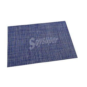 RENBERG Mantel Individual Cuadrado de Vinilo 45x30cm - Azul 1 ud