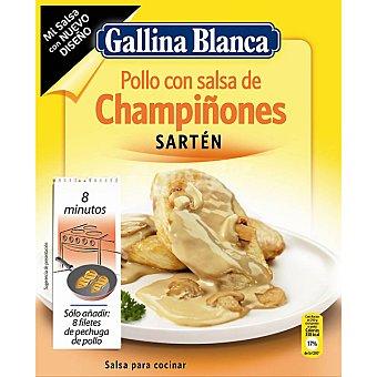 GALLINA BLANCA MI SALSA preparado para hacer salsa de champiñones  sobre 24 g