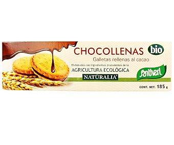 Santiveri Galletas tipo sandwich rellenas al cacao elaboradas con ingredientes procedentes de agricultura ecológica 185 gramos