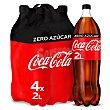 Refresco de cola Zero sin azúcar Pack 4 botellas de 2 l Coca-Cola Zero
