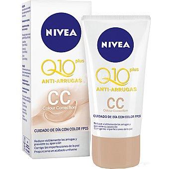 Nivea Plus crema antiarrugas CC cuidado de día con color FP-15 tubo 50 ml Q-10 Tubo 50 ml