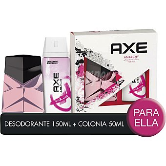 Axe eau de toilette femenina Anarchy + desodorante spray 150 ml Spray 50 ml