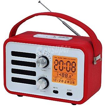 ANSONIC RR-1360 RJ Radio reloj despertador en color rojo