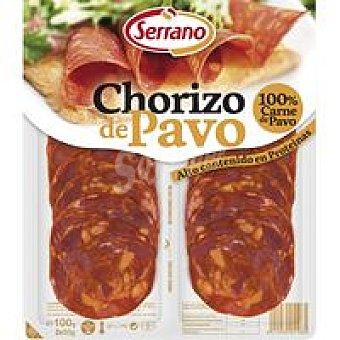 Carnicas Serrano Chorizo de pavo Bandeja 100 g