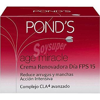 POND'S Age Miracle Crema antiarrugas renovadora de día FPS-15 reduce arrugas y manchas Tarro 50 ml