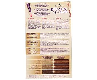 Keratin Color Schwarzkopf Coloración Permanente nº 5.5 Castaño Dorado 1 unidad