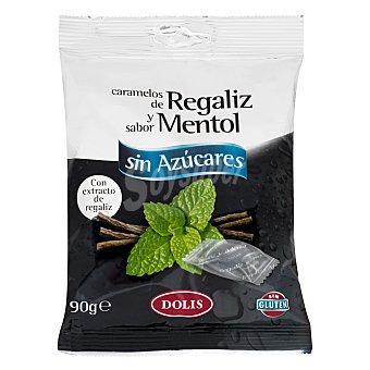 Dolis Caramelo sin azúcar mentol regaliz Paquete 90 g