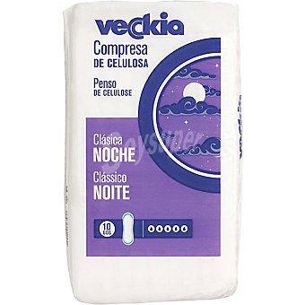 Veckia Compresa de celulosa clasica noche Bolsa 10 unidades