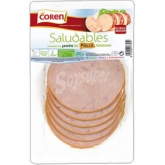 Coren Saludables jamón de pollo adobado Envase 300 g