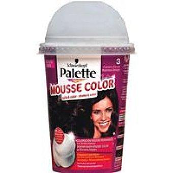 Palette Schwarzkopf Tinte castaño oscuro Nº3 Mousse Color Caja 1 unid