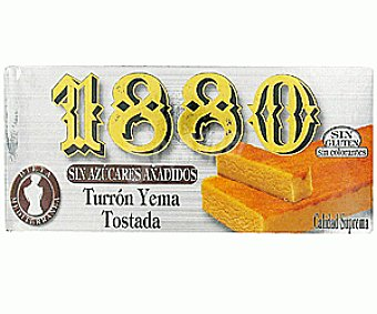 1880 Turrón de Yema Tostada sin Azúcar 200g