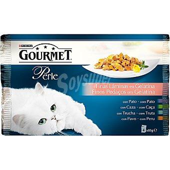 GOURMET PERLE Filetitos en gelatina para gatos bolsa 85 g 4 unidades