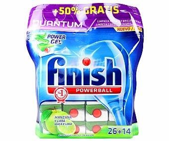 Finish Lavavajillas manzana Quantum 26+14 Unidades