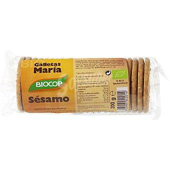 Biocop galletas de sésamo tipo María ecológicas envase 200 g