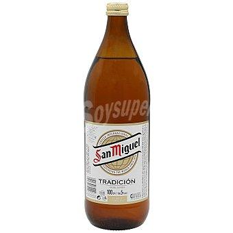 San Miguel Cerveza especial Botella 1 l