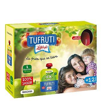 Libby's Tufruti de manzana en bolsita Pack 4x90 g