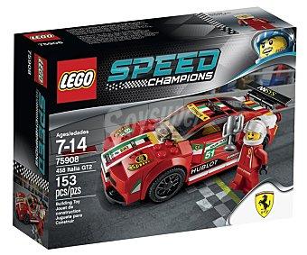 LEGO Juego de construcción con 153 piezas, 458 Italia GT2, serie Speed Champions, modelo 75908 Speed 458 Italia GT2