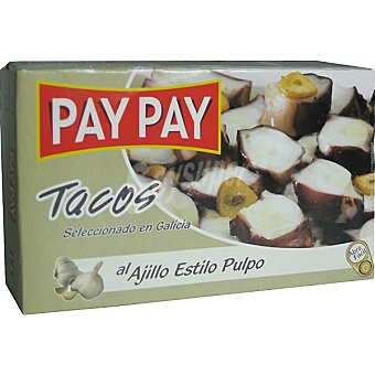 PAY PAY Pulpo al ajillo Lata 72 g neto escurrido