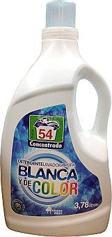 BOSQUE VERDE Detergente lavadora líquido ropa blanca y color Botella de 3,78 L