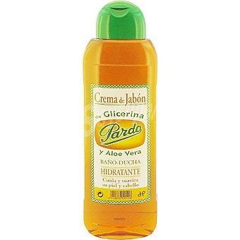 Pardo gel crema de jabón de glicerina y aloe vera Botella 750 ml