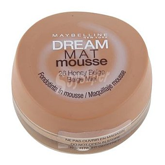 Maybelline New York Maquillaje dream mat mousse 26 honey natural 1 ud