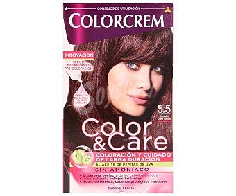 Colorcrem Tinte capilar color castaño claro caoba nº5.5 color&care