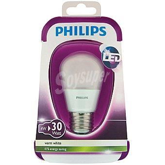 Philips (30W) lámpara LED blanco cálido casquillo E27 (grueso) Esférica Opaca 4 W 1 unidad