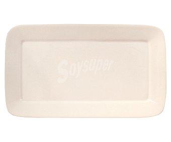 QUID Fuente rectángular de porcelana color blanco, 25,9 centímetros de largo 1 unidad
