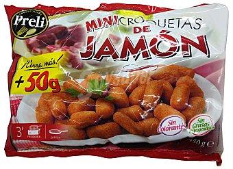 PRELI Croquetas congeladas jamón mini ***Tamaño ahorro*** Paquete 450gr