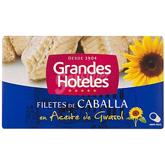 Grandes hoteles Filete caballa en aceite de girasol Lata 62 gr