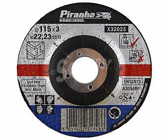 Piranha Disco de corte para Metal de 115 Milímetros de Diámetro 1 Unidad