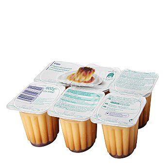 Carrefour Flan vainilla Pack 6x100 g