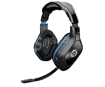 GIOTECK Cascos con Micrófono, Compatible con PS4 / Xbox One y PC. Color Negro y Azul 1 Unidad