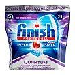 Detergente lavavajillas pastillas Quantum  Paquete 25 unidades Finish