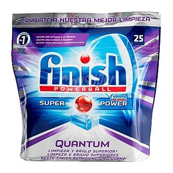 Finish Detergente lavavajillas pastillas Quantum  Paquete 25 unidades